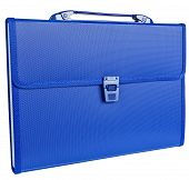 Blue Briefcase Isolated On White
