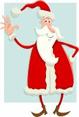 Santa Claus Flat Design Cartoon