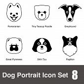 dog face character design set