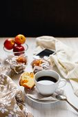 Breakfast Muffins And Coffee