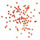 Christmas background with little shiny red stars