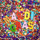 Mardi Gras On Confetti