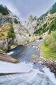 Dam And Stream Of Vall De Nuria