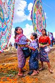 Mayan Girls & Giant Kites, All Saints' Day, Guatemala