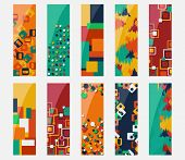 Abstract colorful header set vector design.
