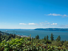 image of coxcomb  - A View of Astoria Oregon from Coxcomb Hill the Location of the Astoria Column - JPG