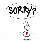 stock photo of saying sorry  - Sorry - JPG