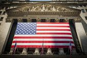 picture of nyse  - Wall Street New York Stock Exchange Entrance - JPG