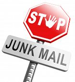 stock photo of spam  - stop junk mail and spam - JPG