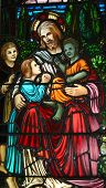 Постер, плакат: Иисус & детей
