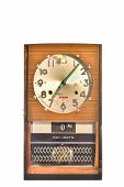 foto of pendulum clock  - Antique wall clock isolated on white background - JPG