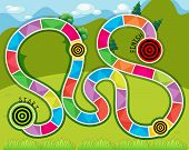foto of maze  - Maze game template with nature view - JPG