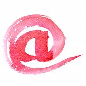 E-mail Sign - Watercolor Letters Lower Case