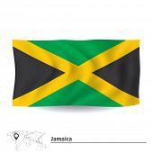 stock photo of jamaican flag  - Flag of Jamaica  - JPG