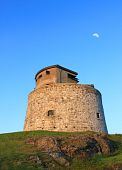 pic of martello  - Carlton Martello Tower located on the lower west side of Saint John New Brunswick Canada a historical site built in the early 1800 - JPG