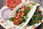 stock photo of mexican  - Mexican tortilla wrap - JPG