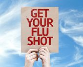 pic of flu shot  - Get Your Flu Shot card with sky background - JPG
