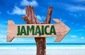 stock photo of rastafari  - Jamaica sign with beach background  - JPG