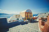 stock photo of greek-island  - Oia on Santorini Island - JPG