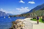 foto of lagos  - Lago di Garda activities beautiful lake in north of Italy - JPG