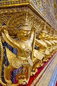 stock photo of demons  - demon in the temple bangkok asia thailand abstract cross colors step gold wat palaces - JPG