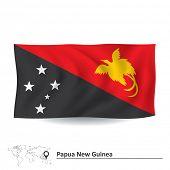 stock photo of papua new guinea  - Flag of Papua New Guinea  - JPG