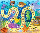 picture of game-fish  - Board game image with underwater theme 2  - JPG