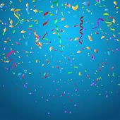 pic of confetti  - Confetti background ideal for Christmas or birthdays - JPG