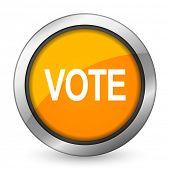 picture of voting  - vote orange icon   - JPG