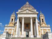 image of turin  - The baroque Basilica di Superga church on the Turin hill Italy - JPG