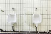 pic of urinate  - urinals in an old building for men only - JPG