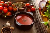 stock photo of vegetable soup  - Tomato soup - JPG