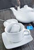 pic of tea bag  - tea in bag cup for tea and tea in bag - JPG