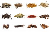 picture of fenugreek  - Set of different spices - JPG