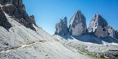 pic of italian alps  - The three peaks of Lavaredo or the  - JPG