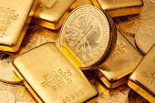 Investitionen in Gold goldbarren und gold-Münzen