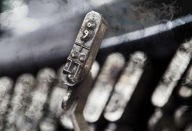 image of ijs  - IJ hammer for writing with an old manual typewriter  - JPG