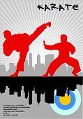 ilustração de karate