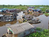 Village On A Lac, Tonle Sap Lake, Cambodgia