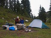 Tea Time At Camp