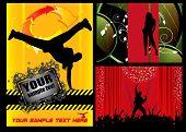 Breakdancer dancing. Event background