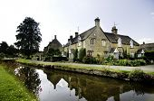 Ancient quaint English country village town, Lower Slaughter