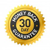 30 day money back guarantee label poster