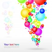 Abstract background, vector illustration with rainbow balls.