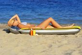 Girl Sunbathing