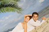 picture of idealistic  - tropical beach couple - JPG