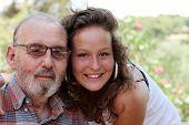 grandad and granddaughter