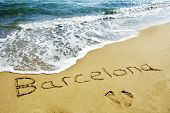 barcelona in the sand
