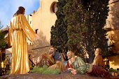 image of the sculpture group of Jesus praying at Gethsemane