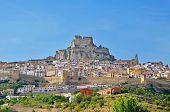 A panoramic view of Morella, in Valencia, Spain